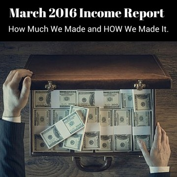 March 2016 Income Report a