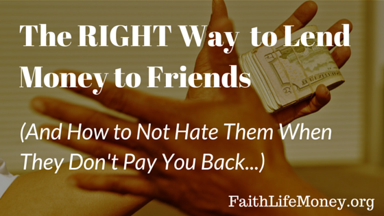 How to Lend Moneyto Friends