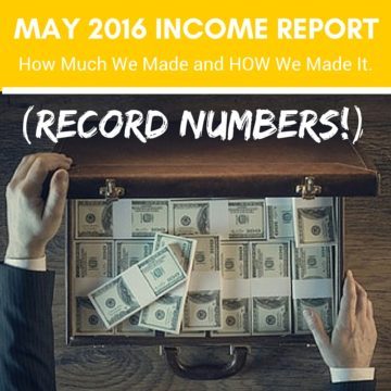 May 2016 Income Report a